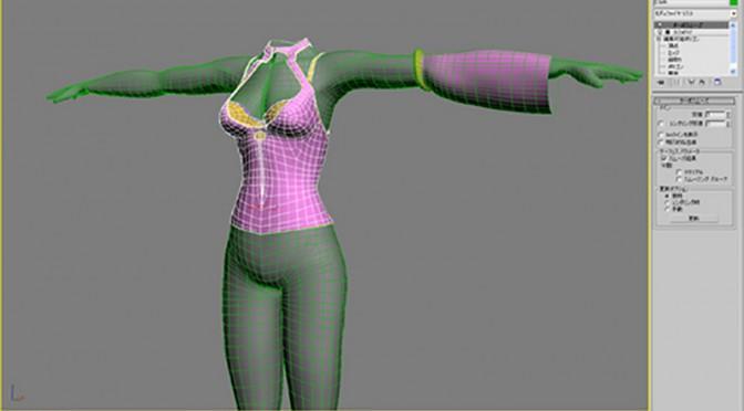 エルフ姉さんの体と衣装デザイン