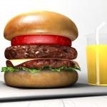 CGで作ったハンバーガー