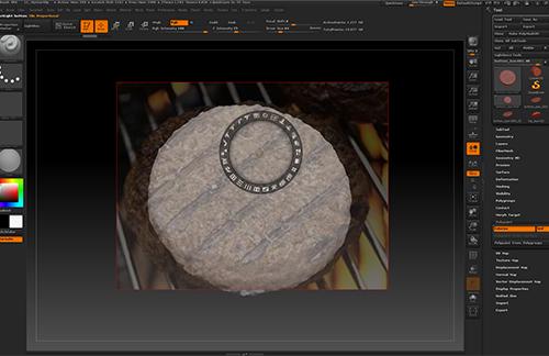 zbrushのspotlightを使ってCGのハンバーガーのテクスチャを作ります。