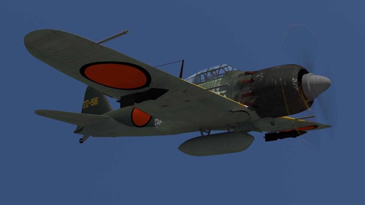 CGで作ったゼロ戦のレンダリング画像