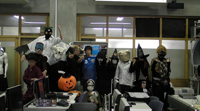 仮装で授業 -大いに盛り上がる-