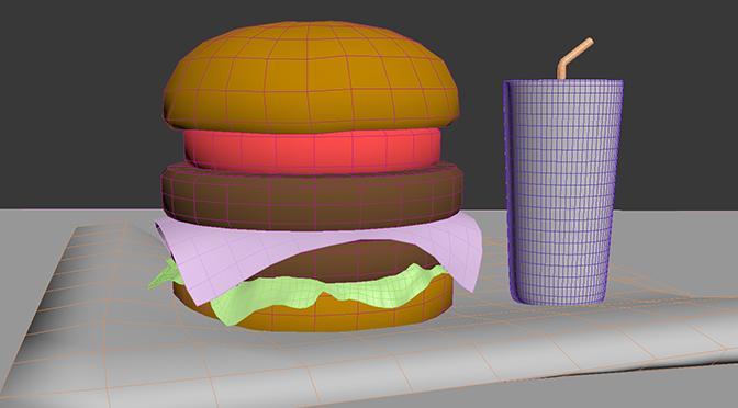 ハンバーガーモデリング終了