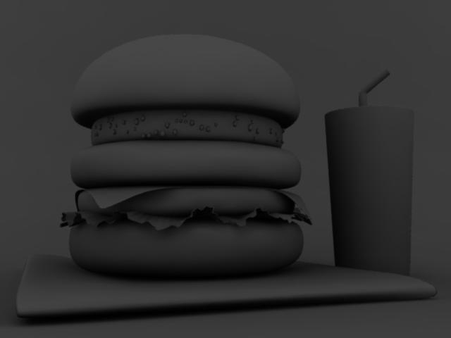 CGハンバーガーの環境光