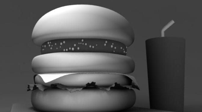 ハンバーガーのライティング