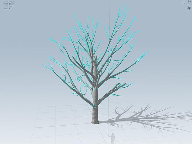 SpeedTreeで枝の作成
